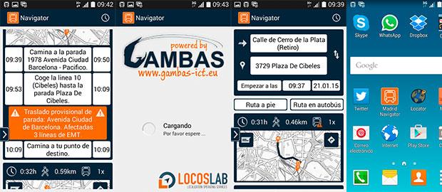 """Colaboramos con """"Gambas"""" en el desarrollo de """"Madrid Navigator"""""""