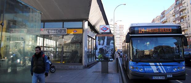 Línea 114 115 122 y 200 entrarán al intercambiador de Avenida de América