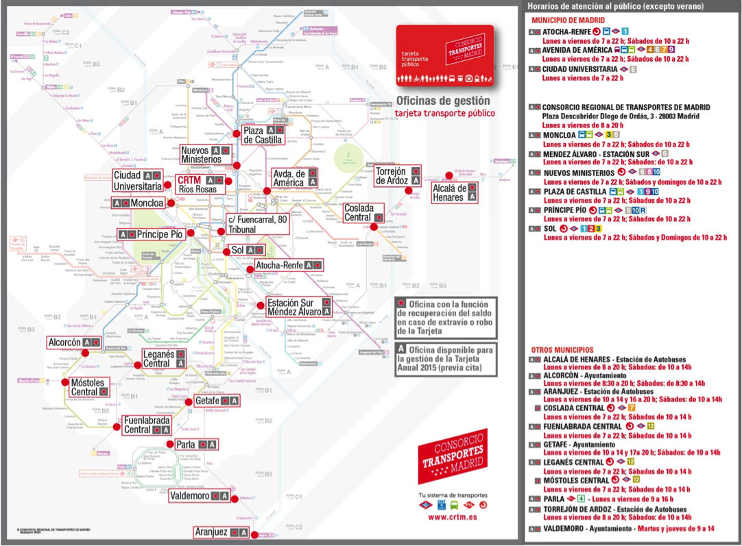 Nueva tarjeta de transporte p blico infantil el blog de for Oficina de transporte madrid