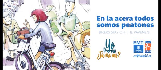 """""""En la acera todos somos peatones"""", campaña de sensibilización por la convivencia entre la bici y el peatón"""